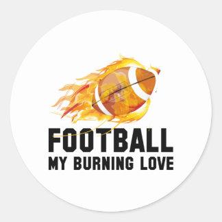 Futebol meu amor ardente adesivo redondo