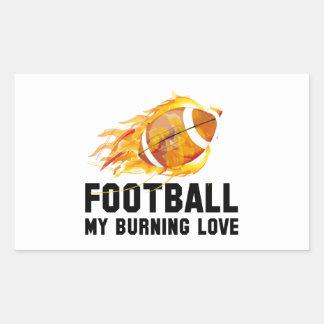 Futebol meu amor ardente adesivo retangular