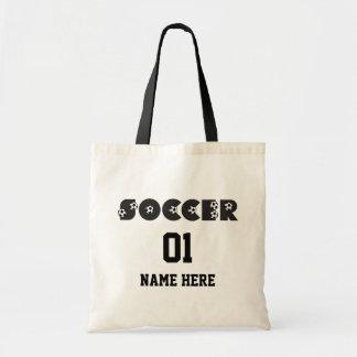 Futebol no preto sacola tote budget