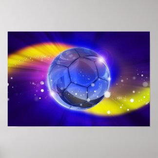 Futebol, o poster o mais popular do esporte do