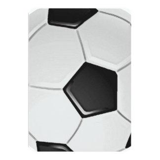 Futebol ou futebol de associação americano convite 12.7 x 17.78cm