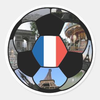 Futebol para France Adesivo Em Formato Redondo