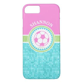 Futebol Pastel da Tri Cor com azulejos do Aqua Capa iPhone 8/ 7