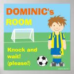 Futebol/poster personalizado futebol da sala