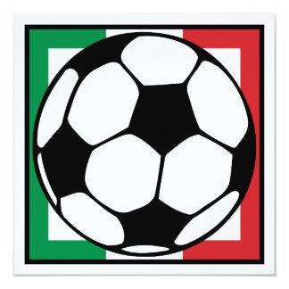 futebol. quadrado de italia. bola de futebol convite quadrado 13.35 x 13.35cm