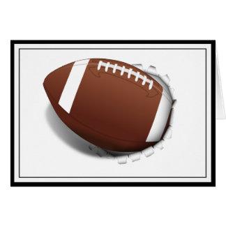 Futebol que rasga para fora cartão comemorativo