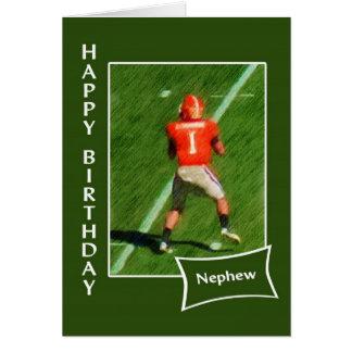 Futebol - sobrinho do feliz aniversario cartão comemorativo