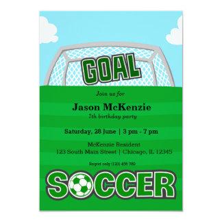 Futebol (verde) convite 12.7 x 17.78cm