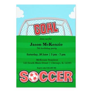 Futebol (vermelho) convite 12.7 x 17.78cm