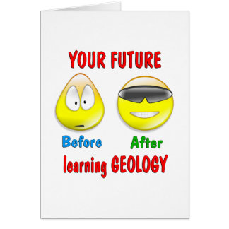 Futuro da geologia cartão comemorativo