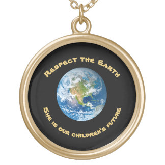 Futuro do respeito da colar da terra do planeta