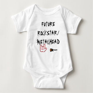 FUTURO ROCKSTAR/METALHEAD BODY PARA BEBÊ