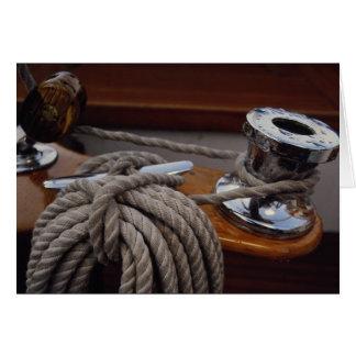 Fuzileiro naval, guincho e linha cartão comemorativo