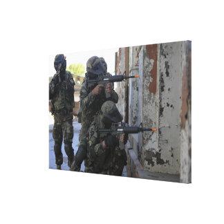 Fuzileiros navais chilenos impressão de canvas envolvida
