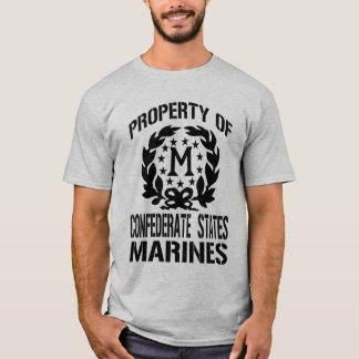 Fuzileiros navais confederados da propriedade camiseta