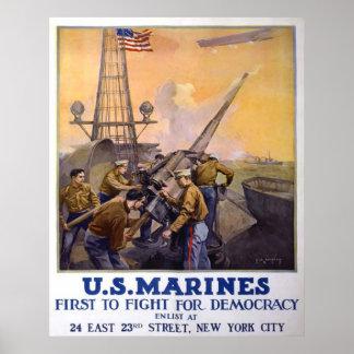 Fuzileiros navais dos E.U. Poster
