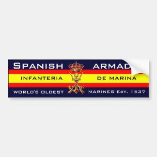 Fuzileiros navais espanhóis reais adesivo para carro