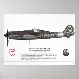 Fw 190 D-9 (Oskar Romm) Pôster