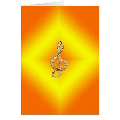 G-clef do símbolo de música cartoes
