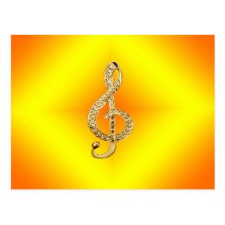 G-clef do símbolo de música cartão postal