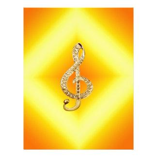 G-clef do símbolo de música papel de carta