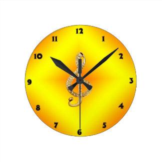 G-clef do símbolo de música relógios de pendurar