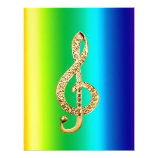 G-Clef dos funcionarios do símbolo de música Papéis De Carta Personalizados