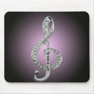 G-clef dos símbolos de música mouse pad