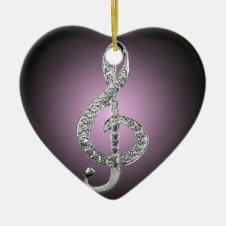 G-clef dos símbolos de música enfeites de natal