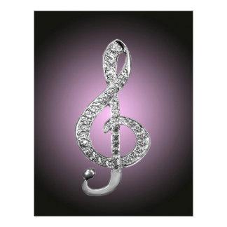 G-clef dos símbolos de música modelo de papel de carta