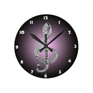 G-clef dos símbolos de música relógios de paredes