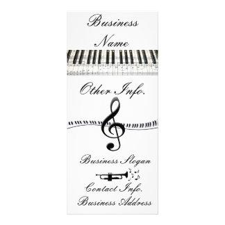 G-Clef e trombeta do teclado de piano 10.16 X 22.86cm Panfleto