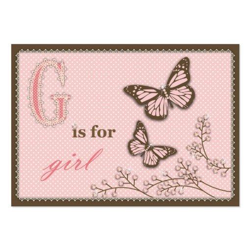 G é para a menina TY Notecard Modelos Cartões De Visitas