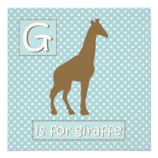 """""""G"""" é para convites do chá de fraldas do girafa"""