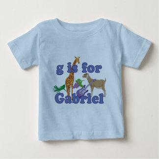 G é para Gabriel Camiseta Para Bebê