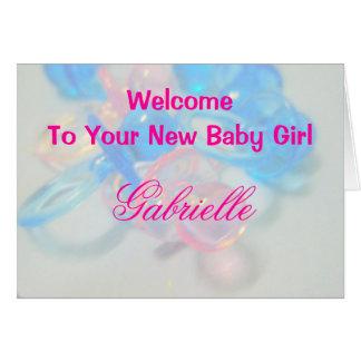 Gabrielle Cartão Comemorativo