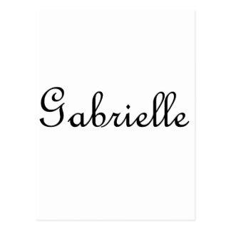 Gabrielle Cartão Postal