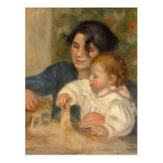 Gabrielle e Jean por Pierre-auguste Renoir Cartão Postal