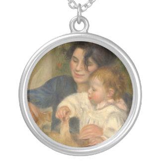 Gabrielle e Jean por Pierre-auguste Renoir Colar Com Pendente Redondo