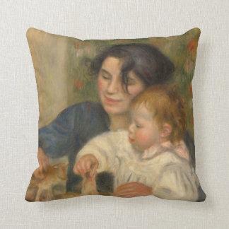 Gabrielle e Jean por Pierre-auguste Renoir Travesseiro