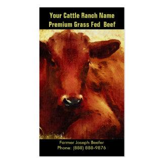 Gado de Brown para o rancho ou a fazenda da carne Cartão De Visita