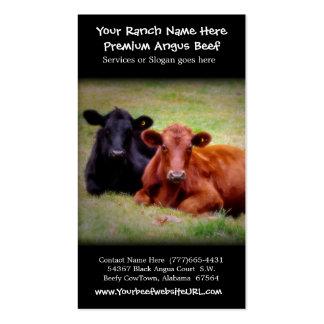 Gado que cultiva o rancho da carne cartão de visita