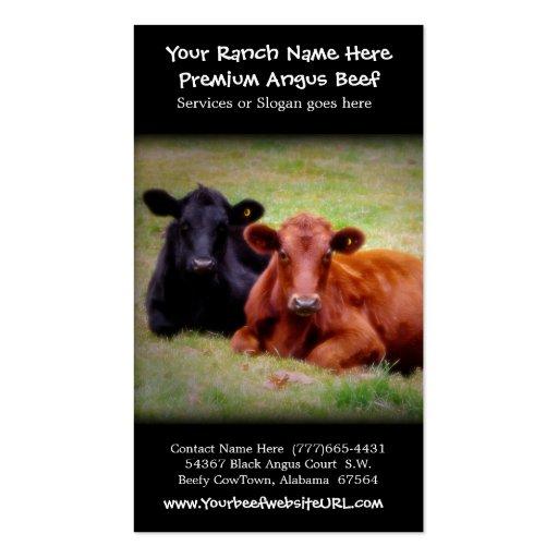Gado que cultiva o rancho da carne cartões de visitas