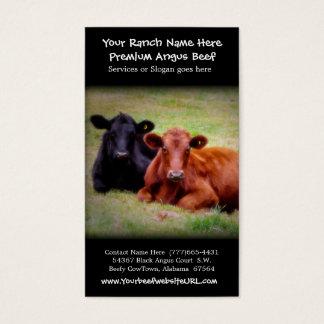 Gado que cultiva o rancho da carne cartão de visitas
