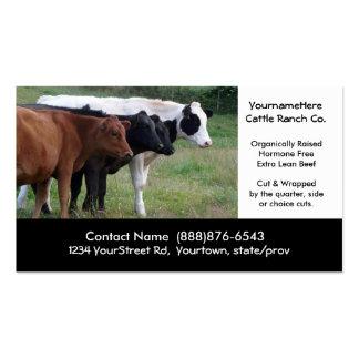 Gados bovinos que cultivam ou que massacram o cart cartão de visita