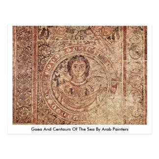 Gaea e centauros do mar por pintores árabes cartoes postais