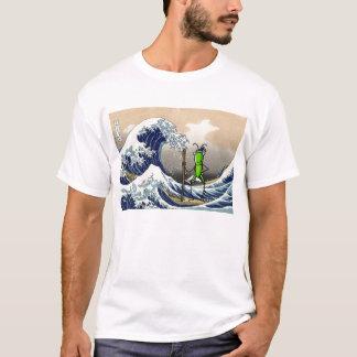 Gafanhoto da paciência em um barco camiseta