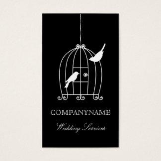 Gaiola de pássaro do modelo de cartão de negócios