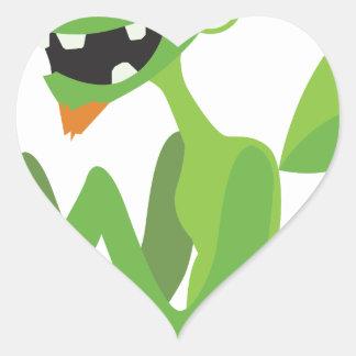 gajo, design animal legal bonito dos desenhos adesivo coração