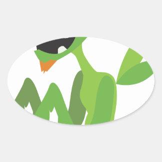 gajo, design animal legal bonito dos desenhos adesivo oval